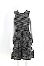 M Missoni black and white zig zag knit dress fit and flare sz 40 6