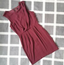Topshop Womens Size 8 Burgundy Red Draped Short Dress Wedding Party Valentines