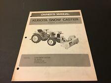 Vintage Original Kubota Tractor Snow Caster Owner's Manual B748 B7100
