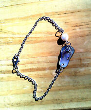 BWT- SEA Shell FLIP FLOP Slider Pearl Bracelet Ln1088 Beach Shell collectable