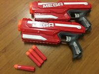 2 X Nerf Mega Magnus With 3 Bullets - 2012 - Used - Good Working Condition Toy