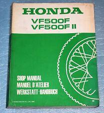 manuel d'atelier revue technique Honda VF 500 F / F II de 1984
