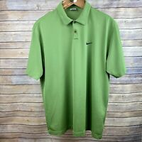 Nike Golf Dri-Fit Polo Shirt Green 2XL XXL Mens Excellent Condition Swoosh