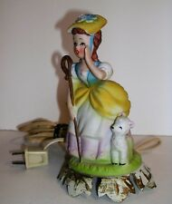 Vintage Alladin Giftware LA Calif. Little Bo Peep Ceramic Night Light Figurine