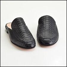 RDC9421 Authentic Size 40 Gianvito Rossi Black Python Mules