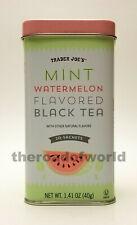 TRADER JOE'S | Mint Watermelon Flavored Black Tea | 20 Sachets