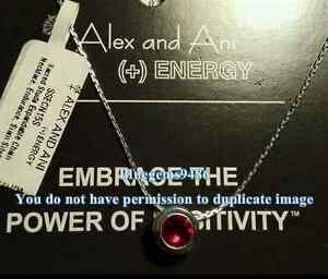 Alex and Ani Sacred Studs Siam Endurance Necklace Silver Plated - Rare