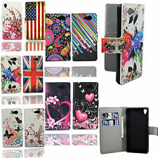 Flip PU Leather Fold Wallet Pouch Case Premium Leather Cover For Sony Xperia