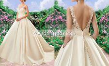 Custom Satin Lace Wedding Dress Evening Dress Ball Gown Wedding Dress Plus Size