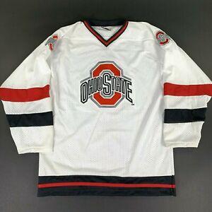 NEW NWOT VTG Ohio State Buckeyes Hockey Home Jersey Large USA Made Deadstock OSU