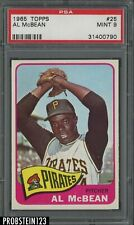 1965 Topps #25 Al McBean Pittsburgh Pirates PSA 9 MINT