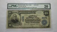 $10 1902 Hudson Falls New York NY National Currency Bank Note Bill Sandy Hill NB