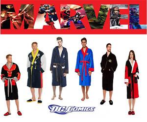 Bathrobe Marvel DC Disney Fleece Dressing Robe Selection Nightwear Gift