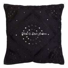 "Antique Decorative Pillow Cover Embroidery Abstract Sofa Cushion Cover 16"" Throw"