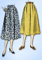 1950s Vintage Vogue Sewing Pattern 8209 Classic Misses Day Skirt Size 26 Waist