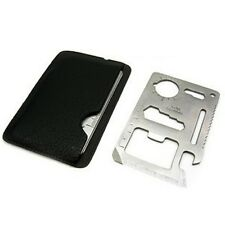 10x Pocket 11 in 1 Credit Card Survival Knife Camping Tool Useful Screwdriver