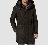 $335 Cole Haan Men's Black Insulated Jacket Water Resistant Hooded Coat Size M