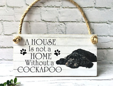PERSONALISED COCKAPOO DOG puppy (ANY TEXT) wall sign pet plaque sign animal gift