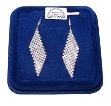 Orecchini Lunghi da donna pl oro Bianco 18K  zirconi cristalli swarovski SW84/2