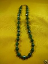 (#V308-1) Green nephrite jade Beads Canada bead Necklace JEWELRY