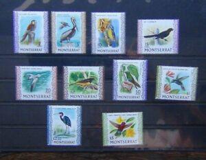 Montserrat 1970 Birds values to $5 MNH