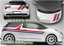 Citroen DS3 complet 005 Racing Stripes Graphique Stickers Autocollants Vinyle Chrono