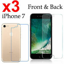 x3 Anti-scratch 4H PET film screen protector Apple iphone 7 front + back