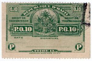 (I.B) Haiti Revenue : Droit de Transmission P0.10