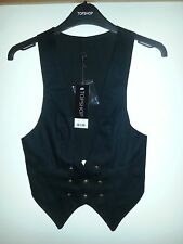 Top Shop black waistcoat, size 6, tags on
