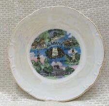 "Vintage Miniature State Of Alabama 6"" Plate Early 1960"