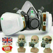 3M 7in1 6200/7502 Shield Filter Respirator Facepiece Work Spray Paint Gas Safety