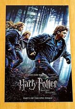 HARRY POTTER POSTCARD - 'HARRY POTTER - DEATHLY HALLOWS PART 1' THE END BEGINS