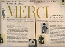 Coupure de presse Clipping 1956 Grands Couturiers collection Hiver (29 pages)