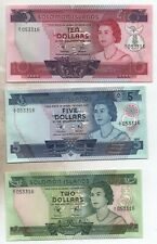 More details for 1977 solomon islands first issue bank notes,$2,$5,$10,unc