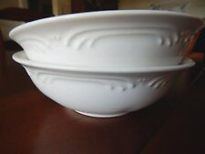 "2 Pfaltzgraff FILIGREE Filigree Super 6-3/4"" Soup/Cereal Bowls-Set of Two (bas)"