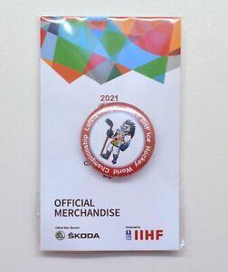 2021 IIHF Ice Hockey World Championship Riga Latvia Mascot Pin Badge