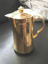 Royal Worcester Gold Lustre Ribbed Coffee Pot G Condition