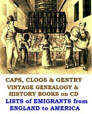 Emigrants England Liverpool to America USA 18th C Emigration eBooks on Data Disc