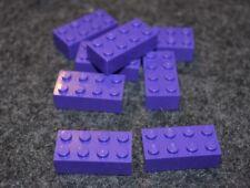 8 ~ 2x4 Purple Standard Brick Bricks ~ New Lego Parts ~