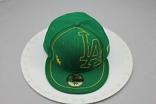 New Era 59FIFTY Fitted Baseball Cap, LOS ANGELES ,  Green with Black under visor