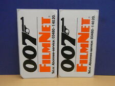 2x Sticker - decal Filmnet 007 / James Bond with org.back 80's (1919)