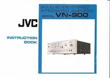 JVC  Bedienungsanleitung user / owners manual  für VN- 900 englisch  Copy
