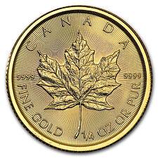 2017 Canada 1/4 oz Gold Maple Leaf BU - SKU #102789
