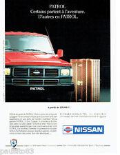 PUBLICITE ADVERTISING 066  1991  la Nissan Patrol