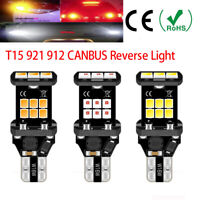Lots of T15 W16W 921 CANBUS No Error LED REVERSE LIGHT BULBS WHITE AMBER 15 SMD