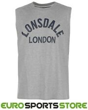 Lonsdale Mens Boxing Tank Vest Sleeveless T-Shirt S M L XL 2XL 3XL 4XL Sports