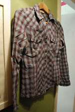 MISS SELFRIDGE BLUE RED CHECK PLAID SHIRT FITTED WESTERN COWGIRL LINE DANCING
