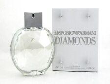 Emporio Armani Diamonds Perfume 3.4 oz EDP Spray for Women. NIB. NO Cellophane.