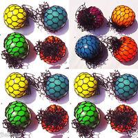 1Pc Novelty Funny Squishy Mesh Ball Grape Sensory Squeeze Toy Random colors