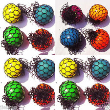 1Pc Novelty Funny Squishy Mesh Ball Grape Sensory Squeeze Toy Random colors